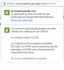 Picasa Web con conexion segura