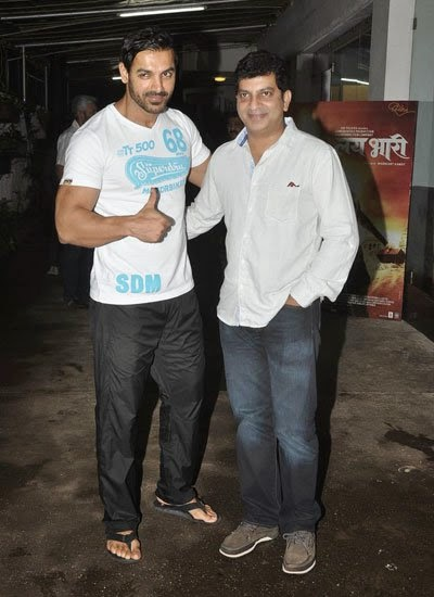 John Abraham snapped at Riteish's movie 'Lai Bhaari' screening