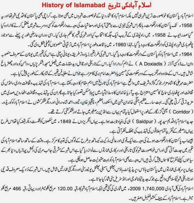 History Of Islamabad In Urdu  Islamabad History In Urdu  Islamabad History In Urdu