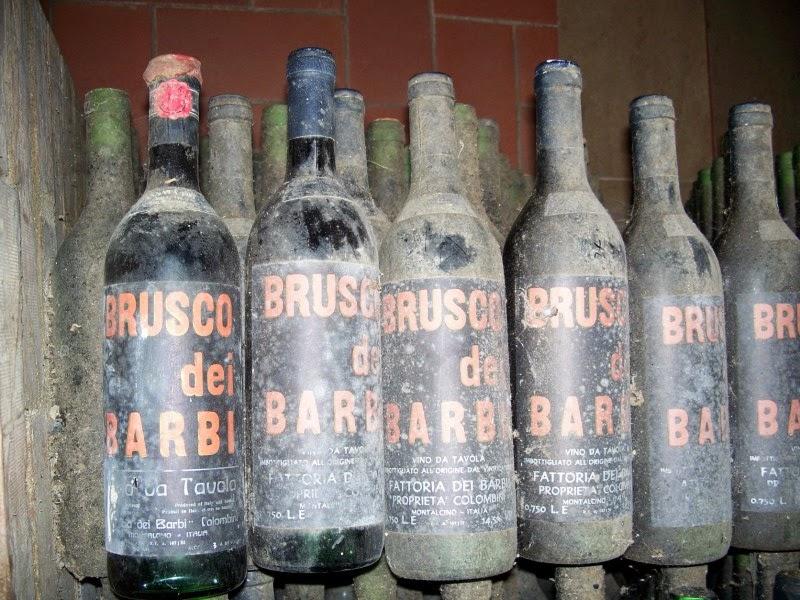 Fattoria dei barbi vintage bottles