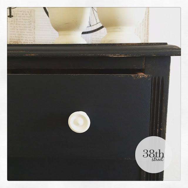 black dresser white knobs, diy, before and after, furniture makeover, dresser makeover, storage solutions