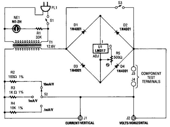 Build A Curve Tracer Circuit Diagram