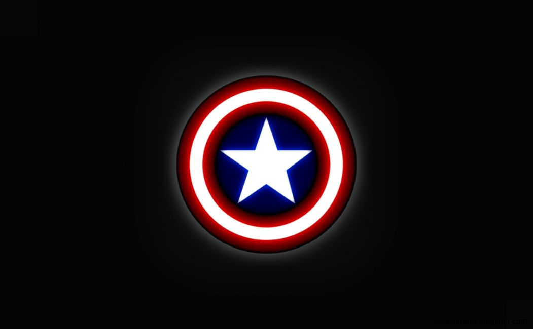 Captain America Logo Wallpaper Wallpapers Quality