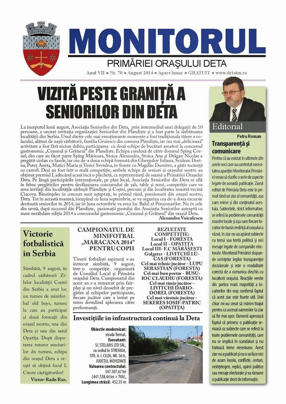 Monitorul - august 2014