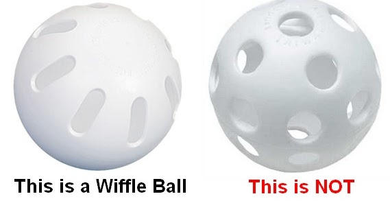 the wiffleball The original, real, wiffle ball this is the same ball, made by the same family that started the whole thing way back in 1952 their company is the wiffle ball inc.
