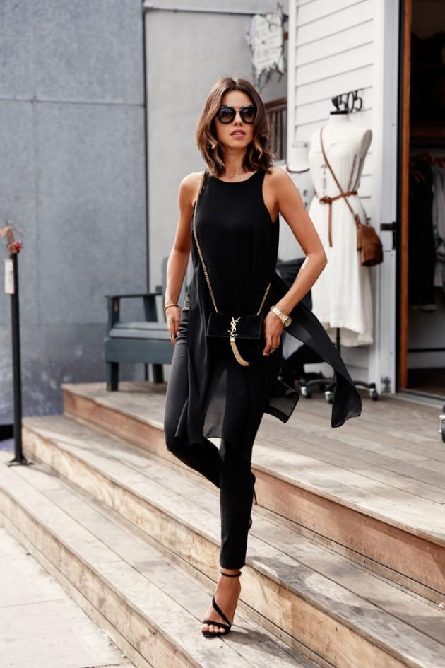 Como utilizar prendas negras parra lucir llena de vida | Moda y Belleza