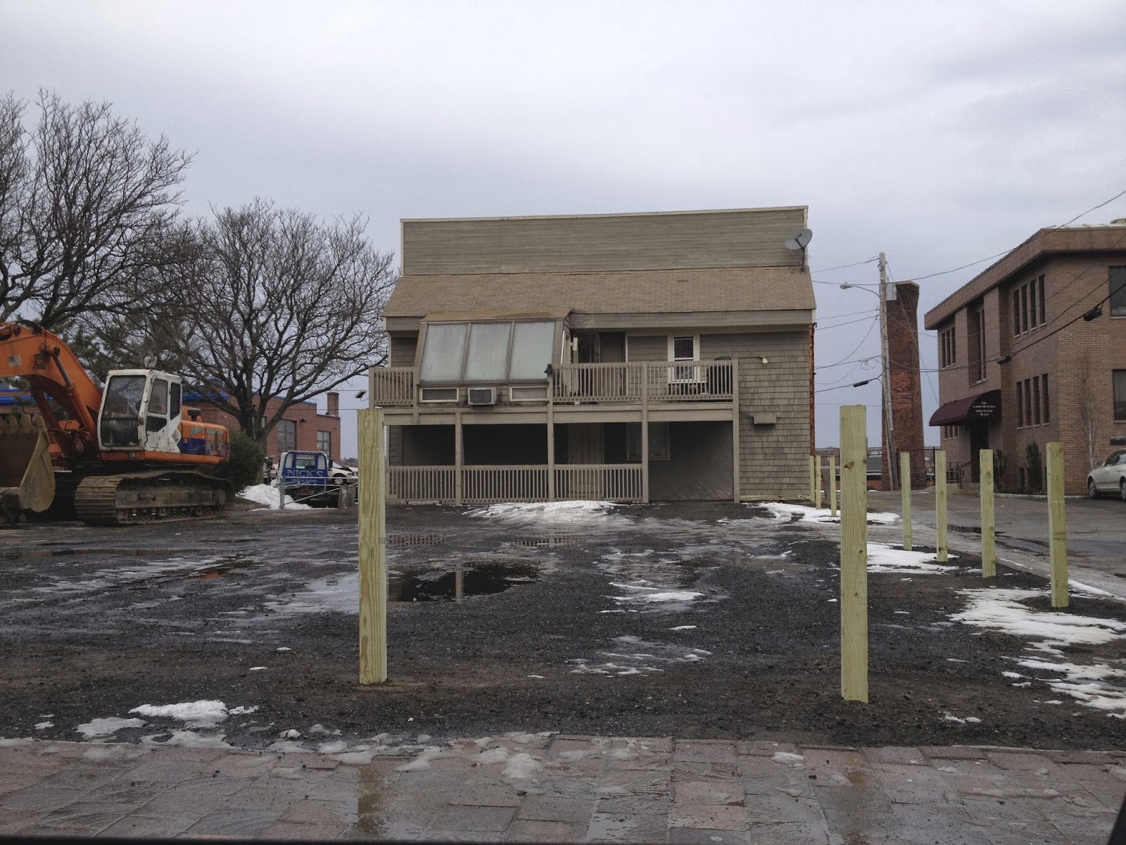 Empty lot where Alexander F. Adie House used to be, January 2014.