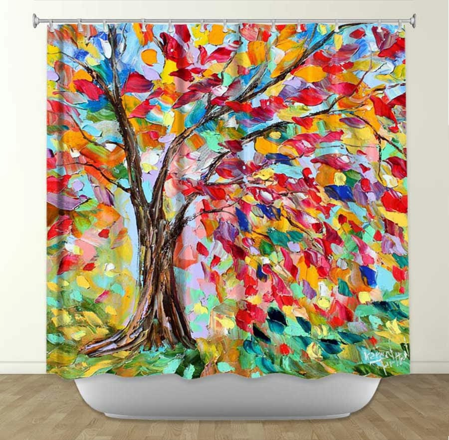 Funky shower curtains - Home Decor Blankets Shower Curtains Rugs And More By Karen Tarlton In Collaboration With Dianoche Designs