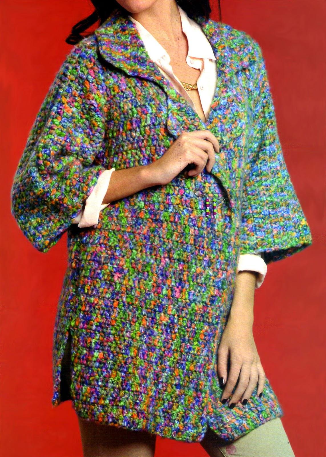 kimono tejido en crochet