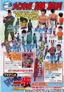 Hajime no Ippo Rising revela su staff (はじめの一歩).