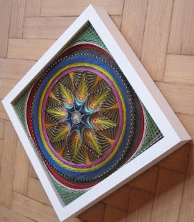 pola simetris dari benang dan paku