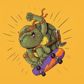 Green Pear Diaries, diseño gráfico, ilustración, Alex Solis, Famous Oldies, Michelangelo, Las Tortuninjas, Ninja Turtles