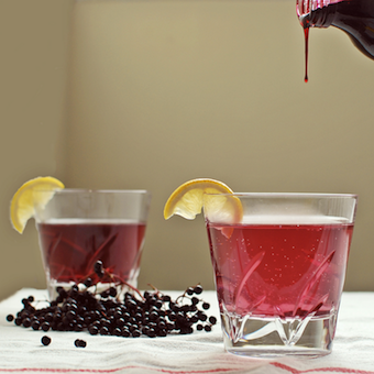 spiced elderberry cordial