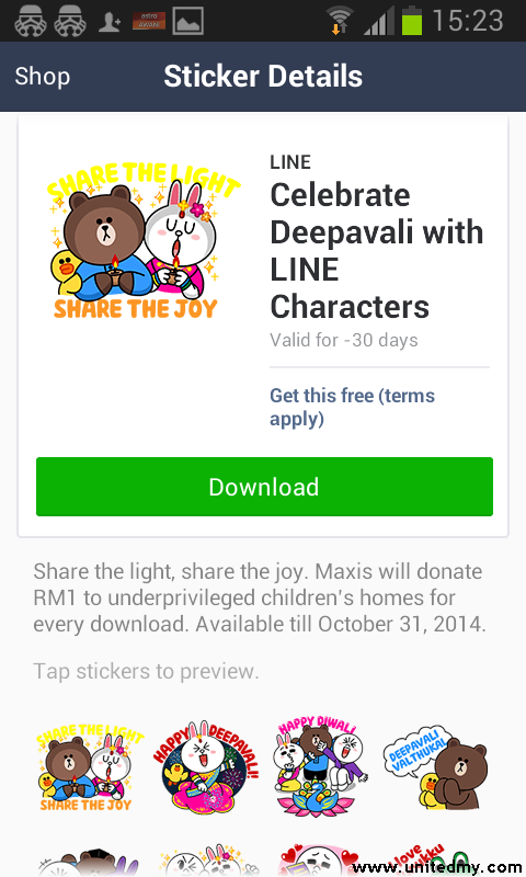 Maxis tells to share Hari Deepavali message 2014