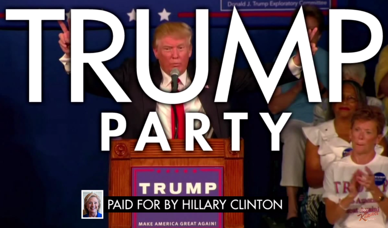 Jimmy Kimmel Launches Donald Trump's New Political Ad Campaign ...