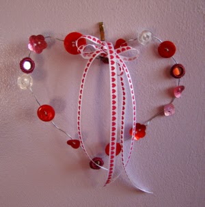 Button Heart Valentine Ornament