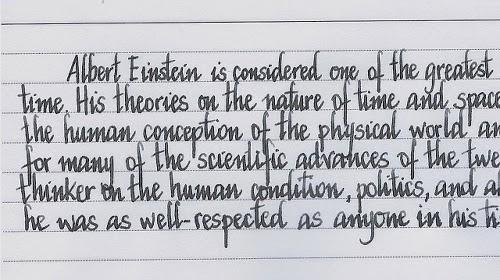 Montblanc 244G and Albert Einstein ink writing sample