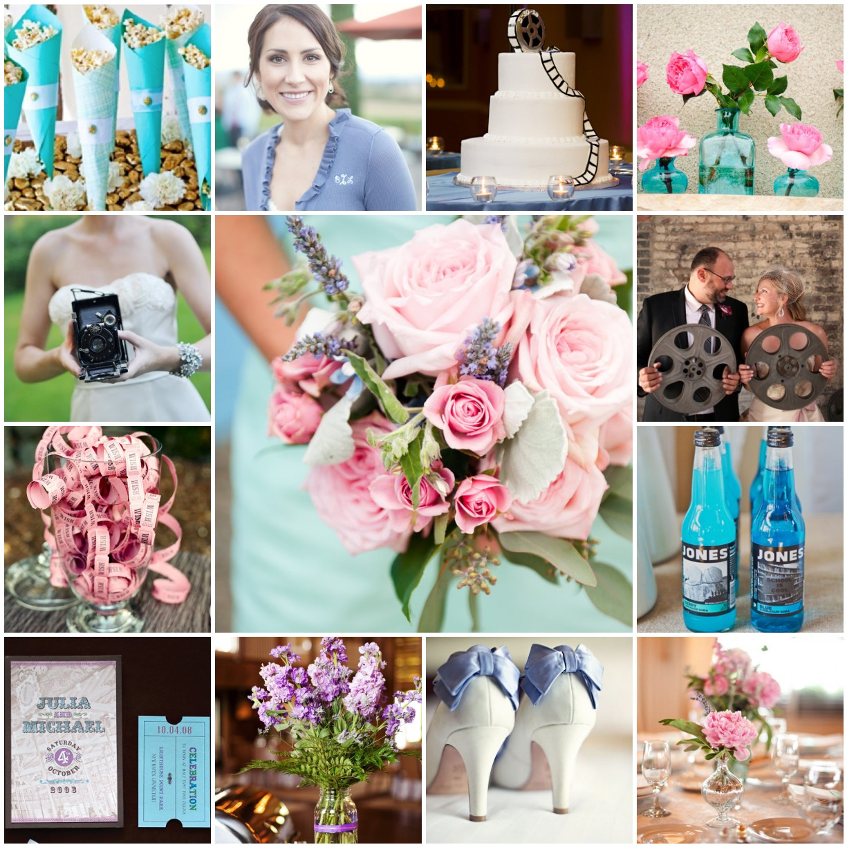 Movie Wedding With Pink Blue Periwinkle And Lilac