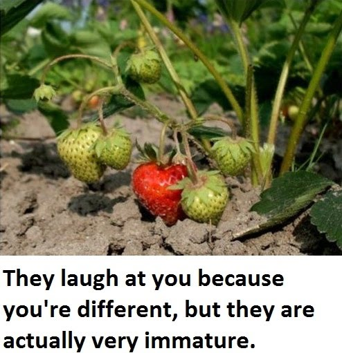They Laugh At You Because You're Different - But They Are Actually Very Immature
