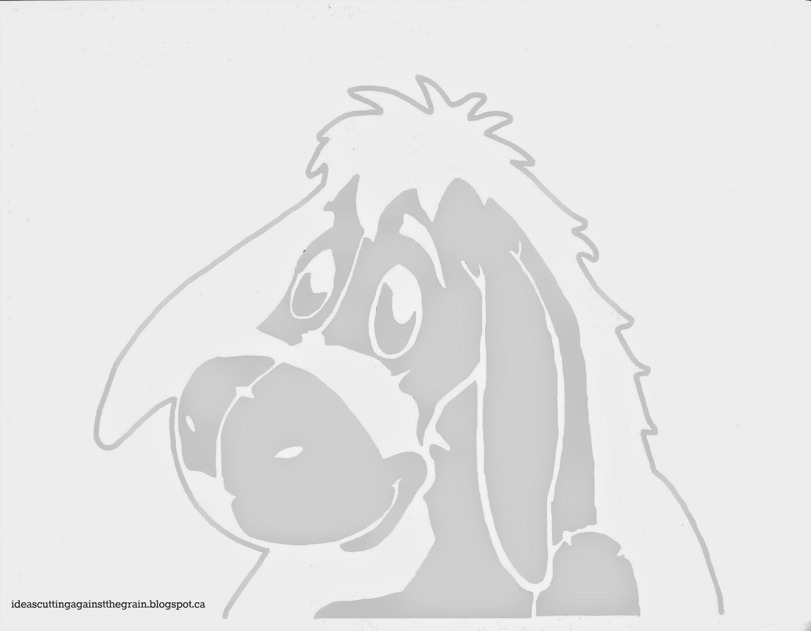 Winnie The Pooh Pumpkin Carving Templates | eeyorepumpkinstencil