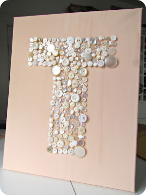 button art, diy art, button crafts, make your own art. monogram art