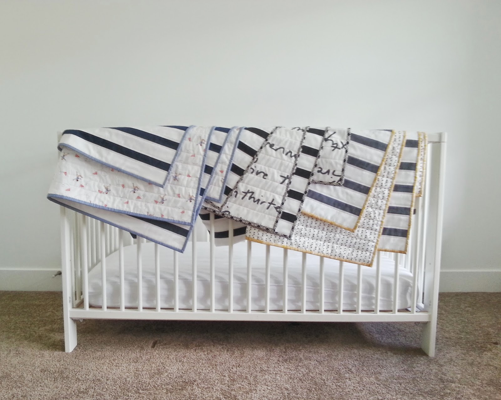 Modern Striped Baby Quilts