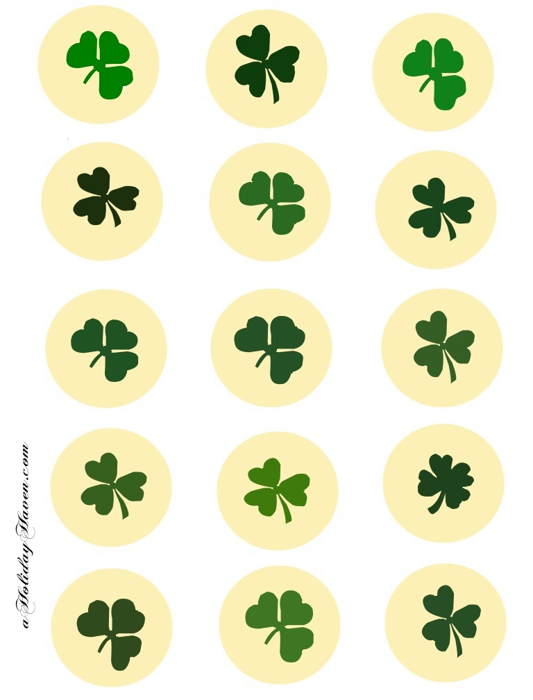 Free Printable St Patricks Day Cupcake Wrappers Party