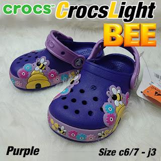 crocs anak lampu bee