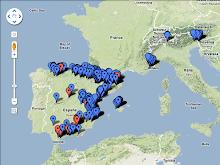 Mapa de barrancs de Barranquismo.org