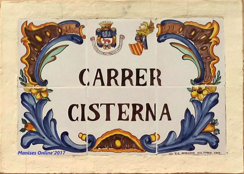 16.12.17 CARRERS-CALLES DE LA CIUDAD DE MANISES: CISTERNA