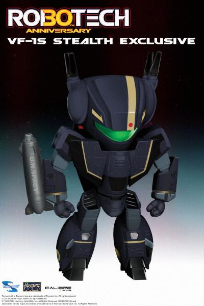 Toynami Super Deformed (SD) Blind Box collection VF-1S Stealth Veritech Battroid figure promo ad image