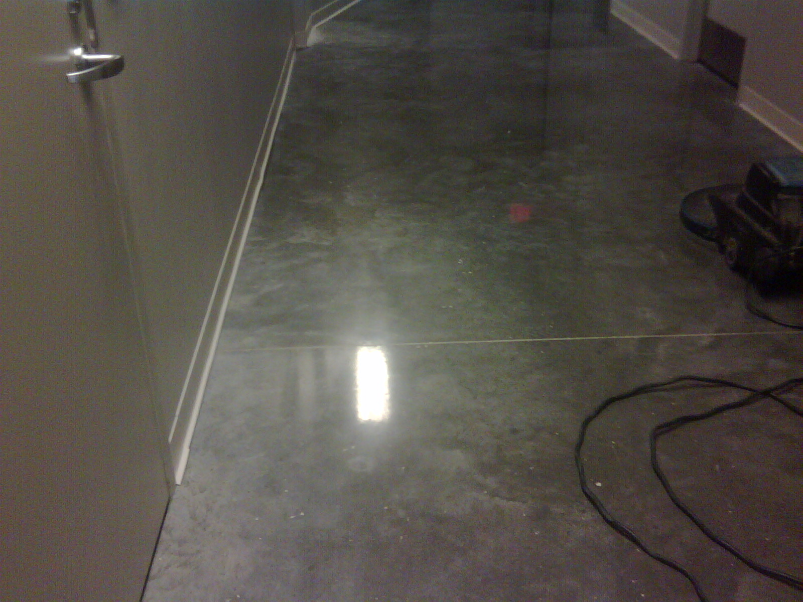Remove carpet and polish the concrete einstein services for Best cleaner for polished concrete floors