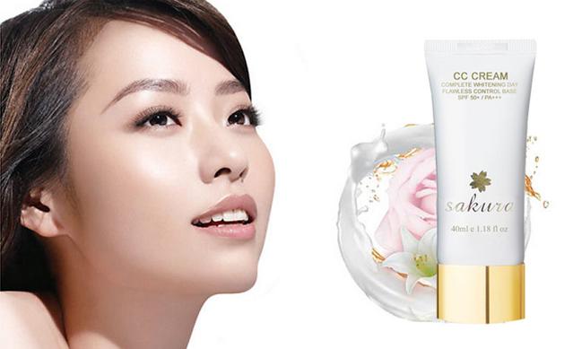 Làm da trắng mịn nhanh chóng cùng Kem CC Cream Sakura