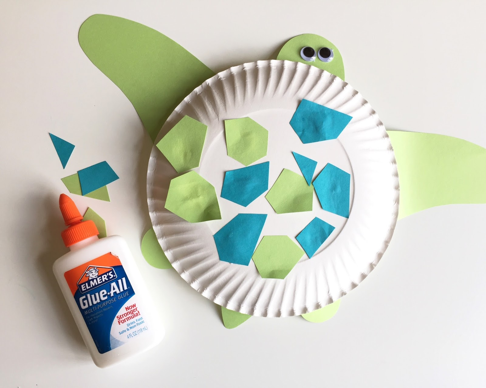 ... her apply them to the underside of a paper plate. Googly eyes completed the look. Last year we made a sponge-painted jelly fish during this theme week. & keep it simple schlossers: Toddler Theme: Under the Sea