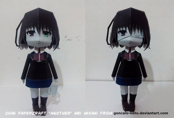 Papercraft Another Anime