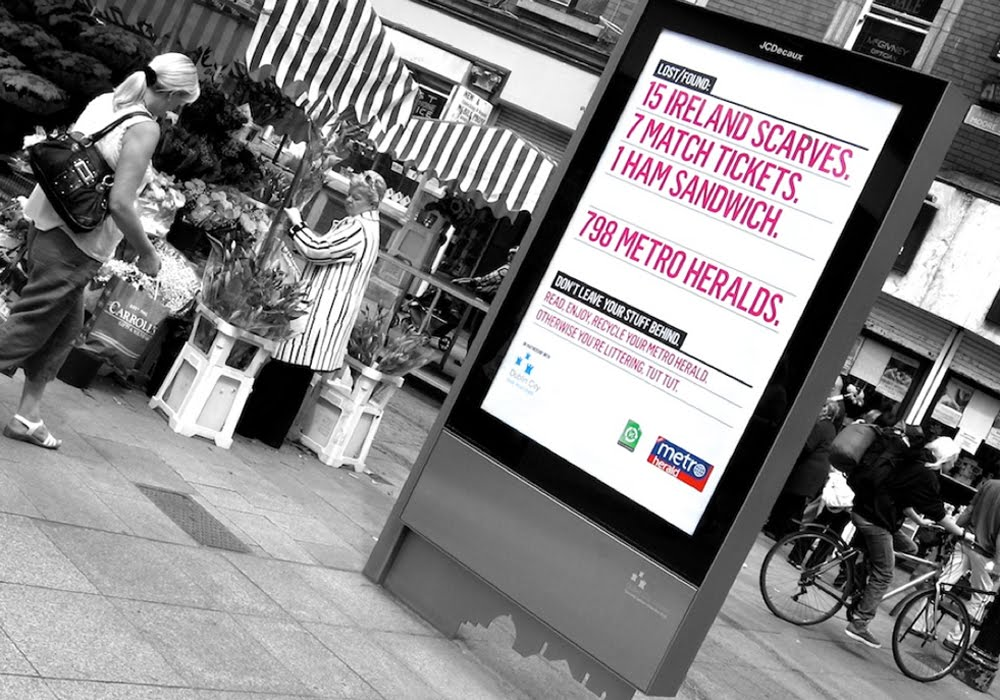 Metro Herald Recycle Campaign by Peter McDonagh, Dublin