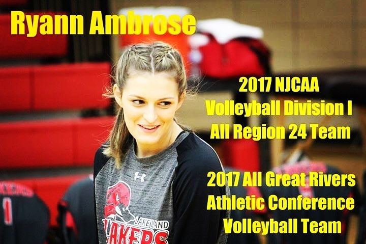 Ryann Ambrose - 2017 All Great Rivers Athletic - 2017 NJCAA All Region 24