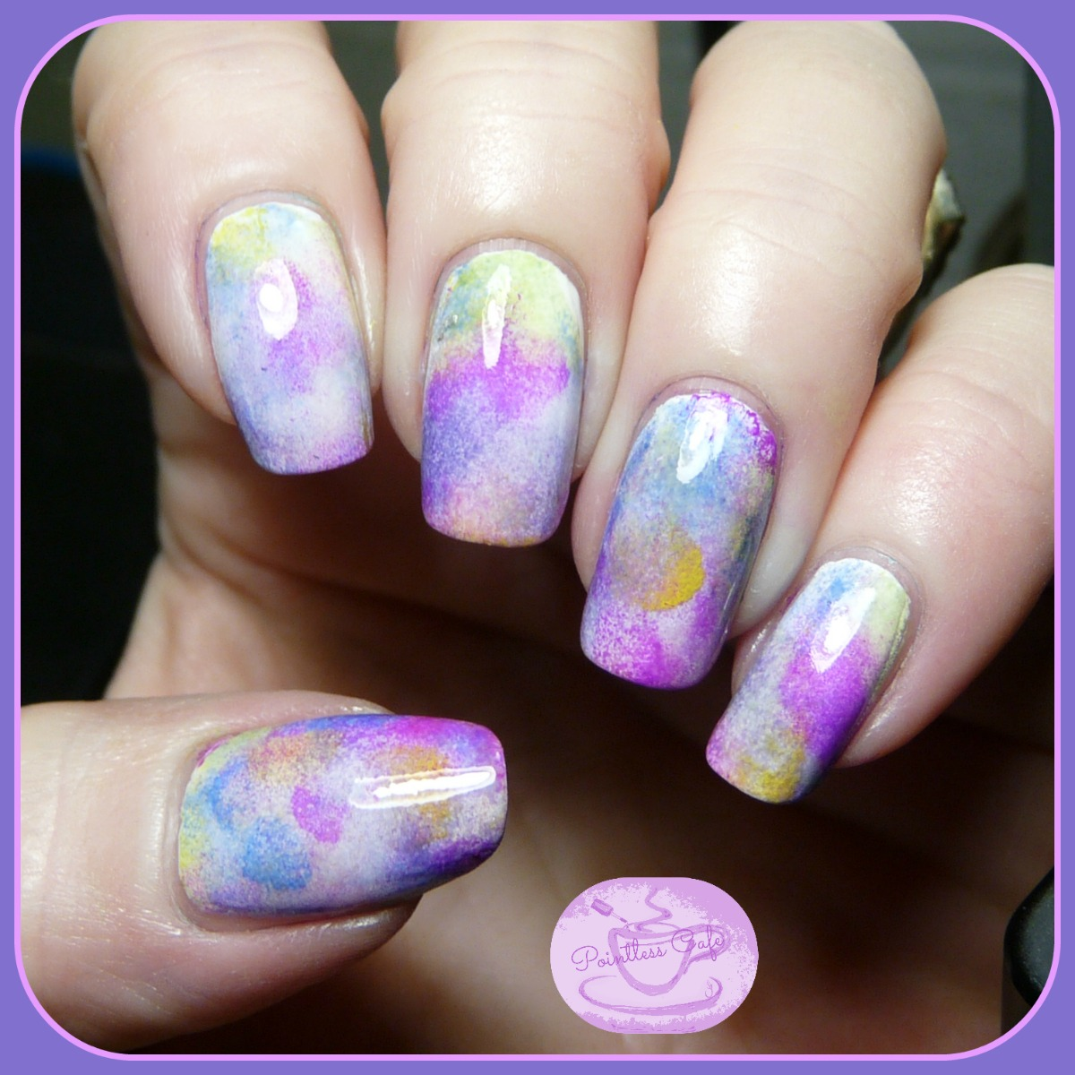 13 Days of January Nail Art Challenge: Blobbicure | Pointless Cafe