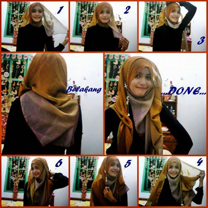 Tutorial hijab paris simple untuk pesta | Terbaru Terkini Trend ...