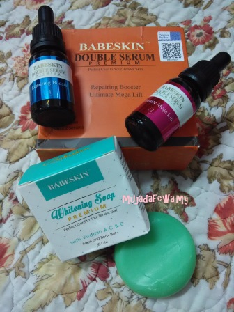 Review Babeskin Double Serum Premium, serum cantik, babeskin365, repairing booster, ultimate mega lift, serum lebih baik daripada krim