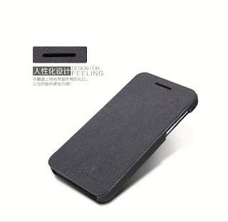 Nillkin New Tree-texture Leather Case for BlackBerry Z10 + Screen Film - Black