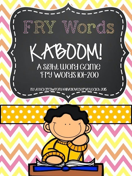 https://www.teacherspayteachers.com/Product/FRY-Words-101-200-KABOOM-Game-778647