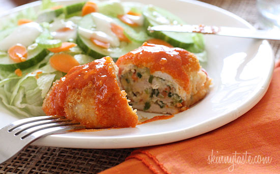 Stuffed Buffalo Chicken Breasts Recipe — Dishmaps