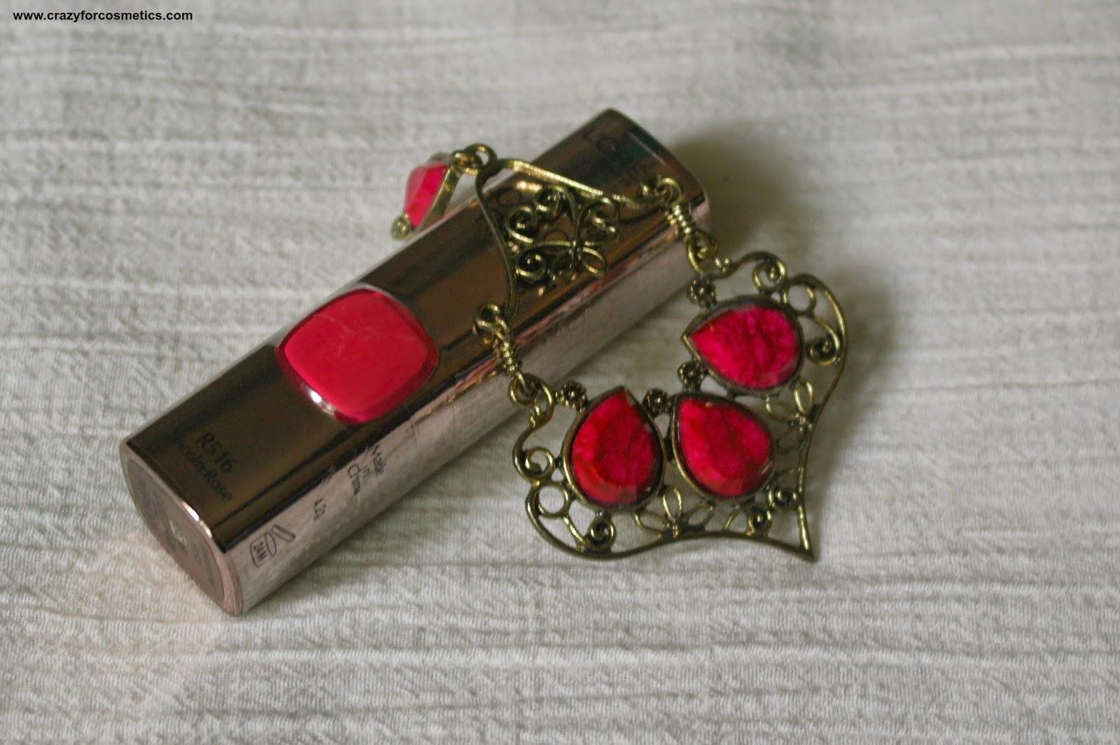 Loreal Moist Matte Lincoln rose lipstick Aishwarya rai cannes lipstick
