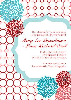 Custom Printables chrysanthemum wedding invitation