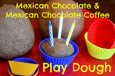 Chocolate and Coffee Playdough Fun