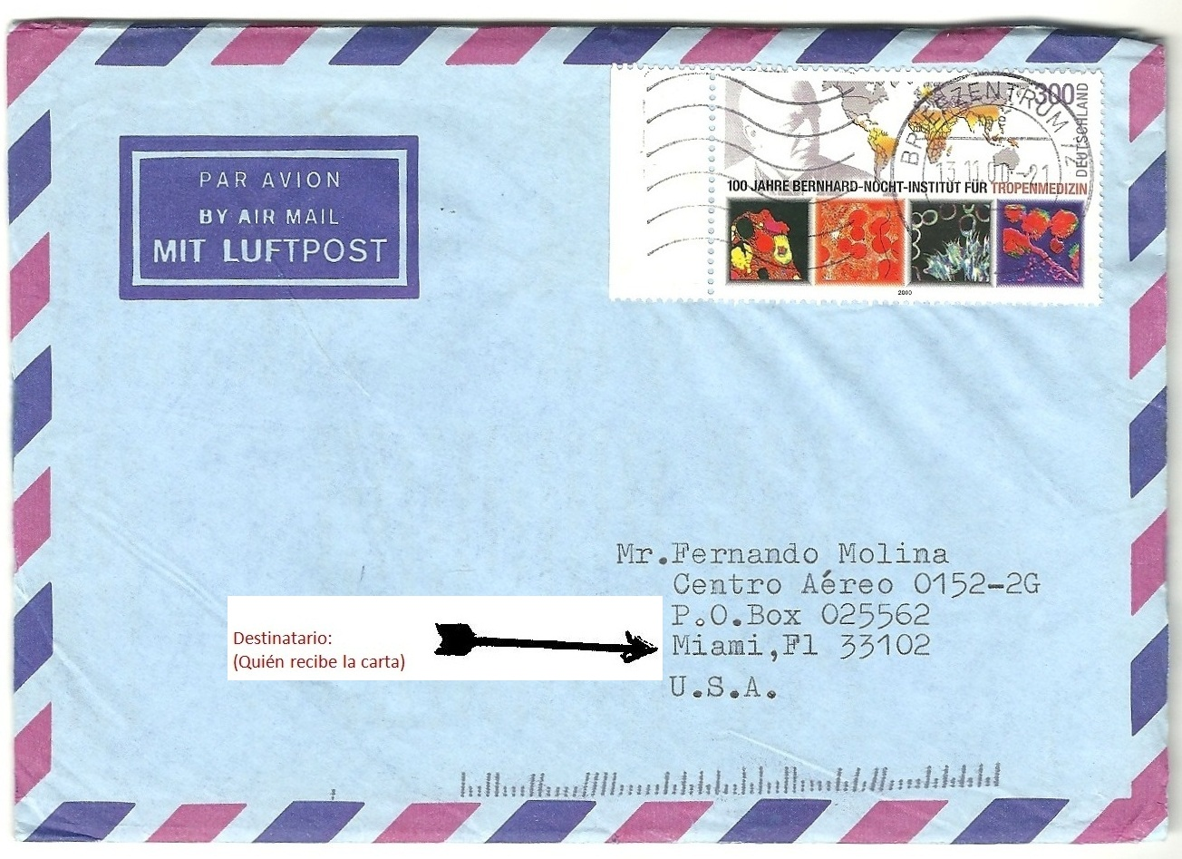 Postales una carta para - Adresse london exemple ...
