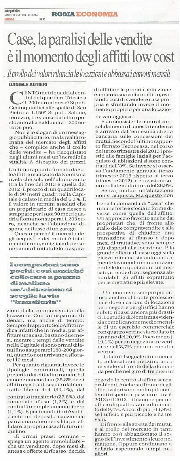 Tg roma talenti case crollo dei valori immobiliari e for Case che hanno ascensori