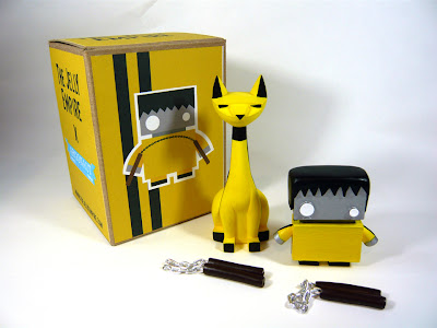 Bruce Lee Themed Game of Death Tuttz & JellyBot Resin Figure Set by The Jelly Empire