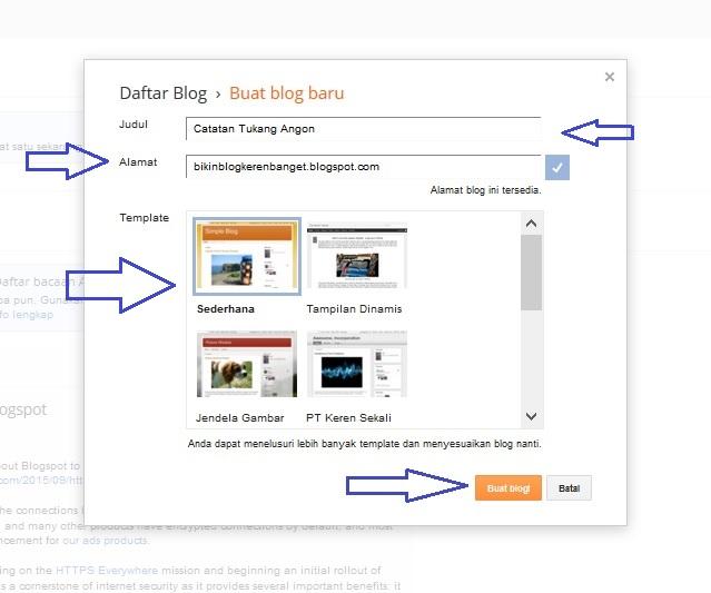 2 Langkah Mudah Cara Membuat Blog Di Blogspot Dengan Cepat